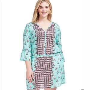🎈HP🎈Tolani clinched waist multi print dress
